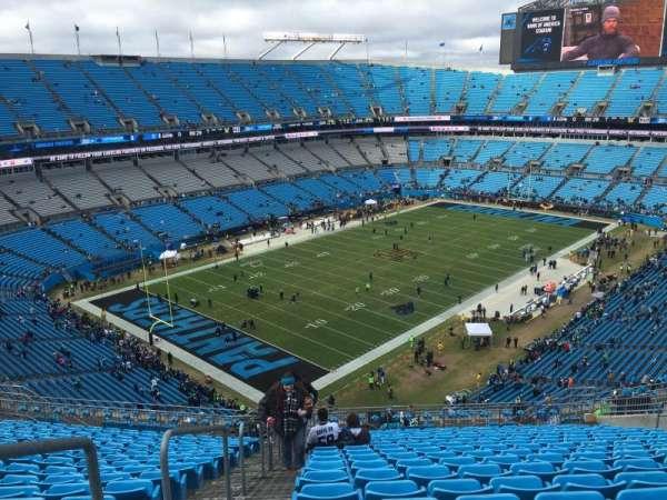Bank of America Stadium, secção: 522, fila: 17, lugar: 21
