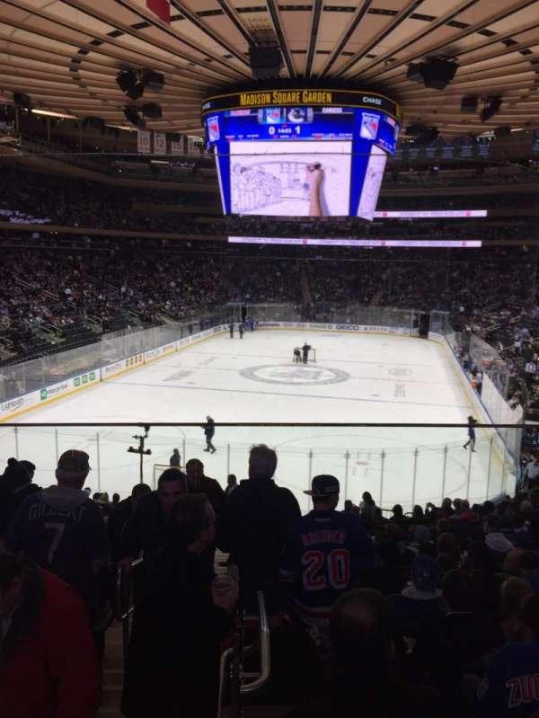 Madison Square Garden, secção: 103WC, fila: 20, lugar: 3