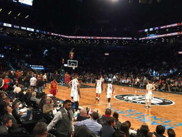 Barclays Center, secção: 7, fila: 01, lugar: 13