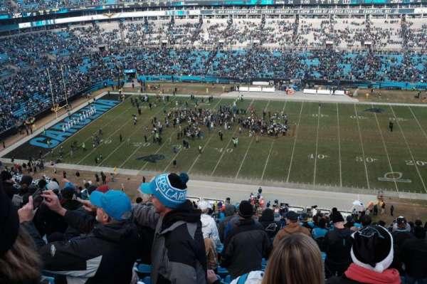 Bank of America Stadium, secção: 541, fila: 18, lugar: 12