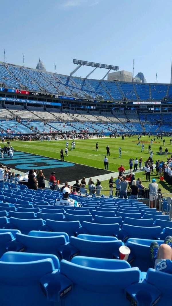 Bank of America Stadium, secção: 138, fila: 15, lugar: 3-4