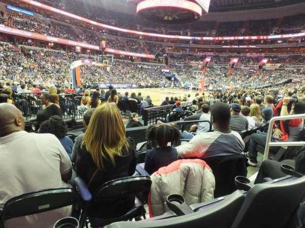 Capital One Arena, secção: 108, fila: E, lugar: 7