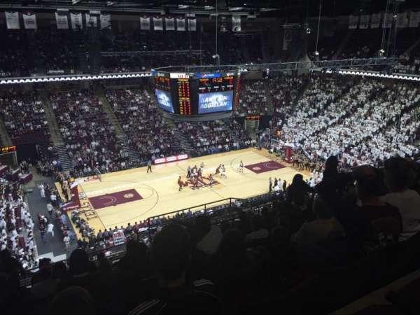 Reed Arena, secção: 223, fila: M, lugar: 12