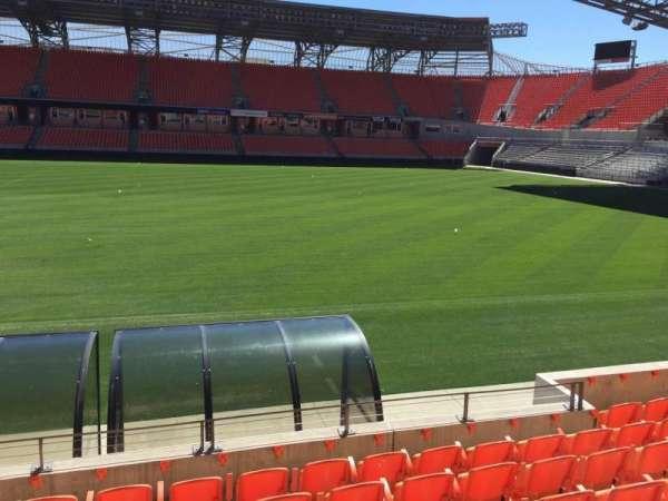 BBVA Stadium, secção: 105, fila: H, lugar: 15