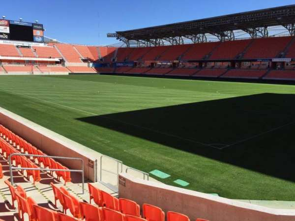 BBVA Stadium, secção: 102, fila: F, lugar: 10