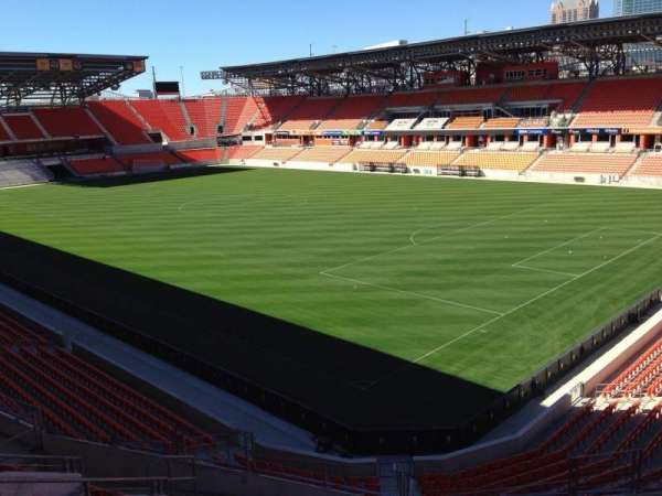 BBVA Stadium, secção: 221, fila: J, lugar: 11