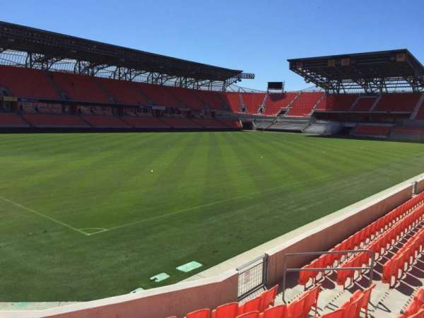 BBVA Compass Stadium, secção: 110, fila: F, lugar: 10