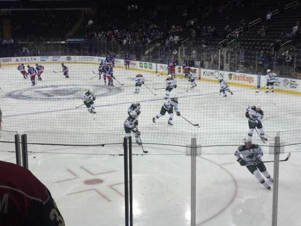 Madison Square Garden, secção: 111, fila: 8 , lugar: 16