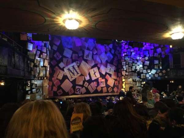 Shubert Theatre, secção: Orchestra L, fila: Q, lugar: 21