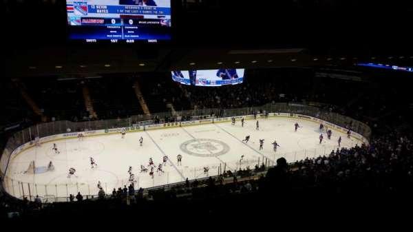 Madison Square Garden, secção: 222, fila: 19, lugar: 15