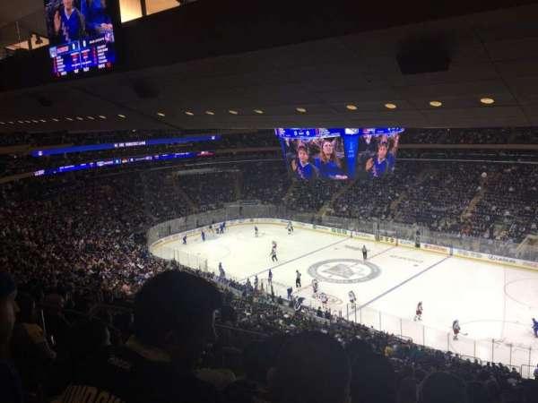 Madison Square Garden, secção: 214, fila: 15, lugar: 4