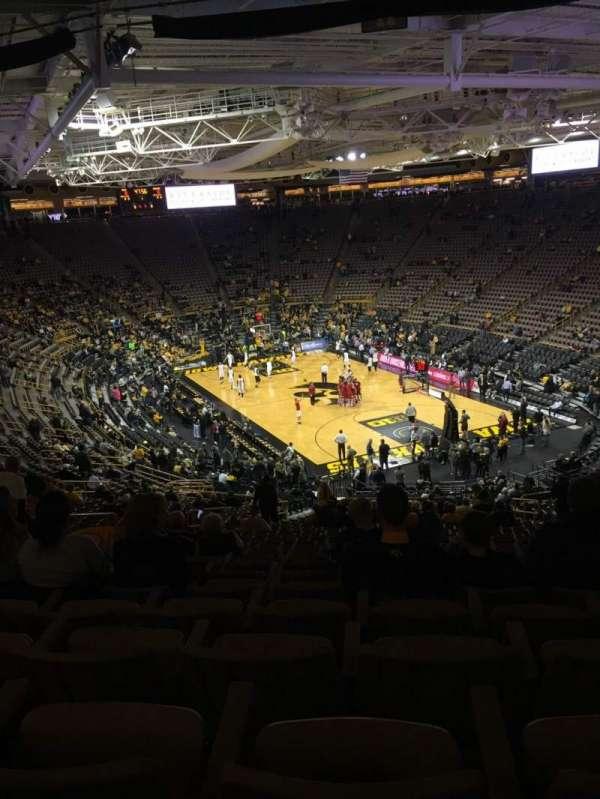 Carver-Hawkeye Arena, secção: JJ, fila: 40, lugar: 9