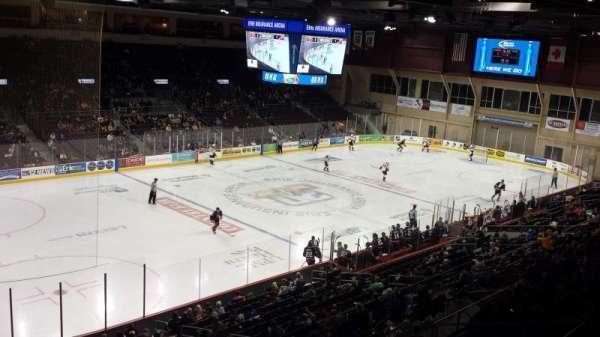 Erie Insurance Arena, secção: 315, fila: A, lugar: 5