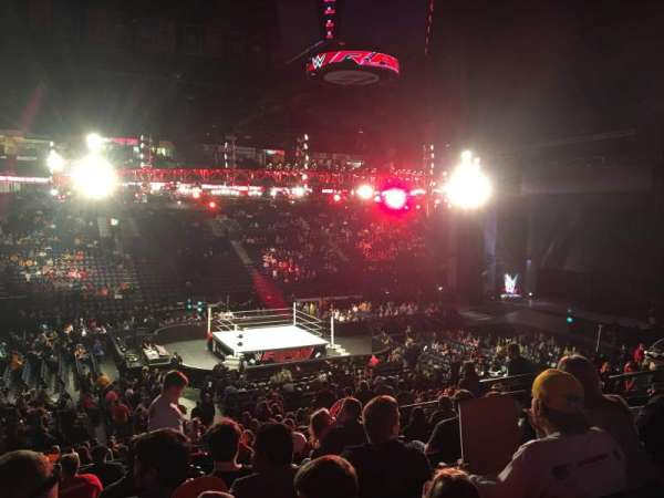 Bridgestone Arena, secção: 104, fila: M, lugar: 9