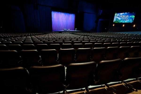 Microsoft Theater, secção: Orchestra Center Left, fila: S, lugar: 413