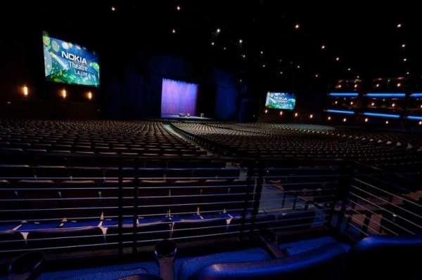 Microsoft Theater, secção: Orchestra Center Left, fila: SS, lugar: 404