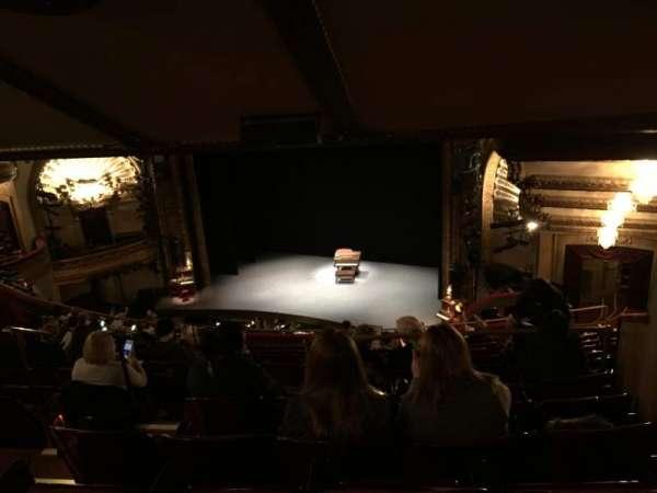 Palace Theatre (Broadway), secção: Rear Mezzanine, fila: O, lugar: 8