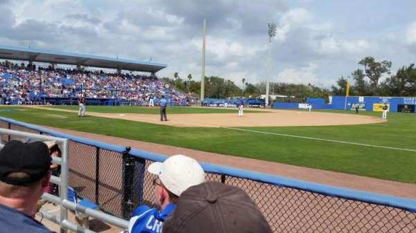Florida Auto Exchange Stadium, secção: 100A, fila: 2, lugar: 18