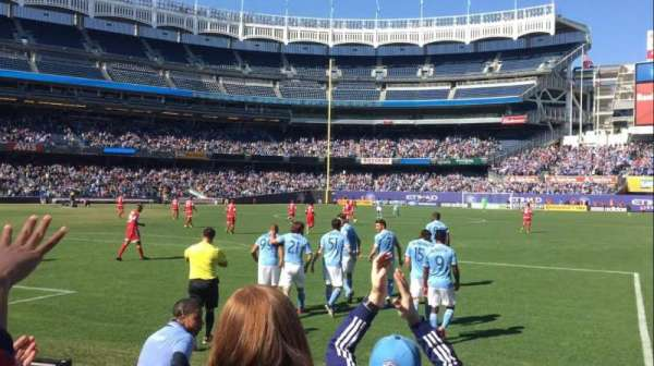 Yankee Stadium, secção: 111, fila: 4, lugar: 2