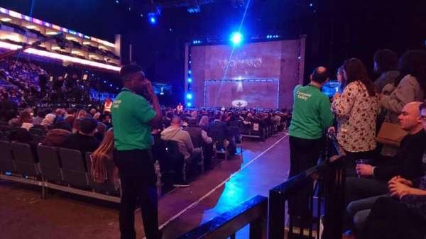 The O2 Arena, secção: 110, fila: A, lugar: 286