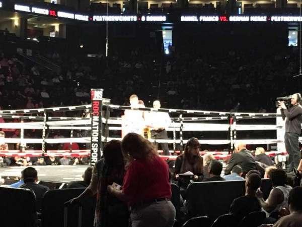 Oakland Arena, secção: 116, fila: A2, lugar: 1