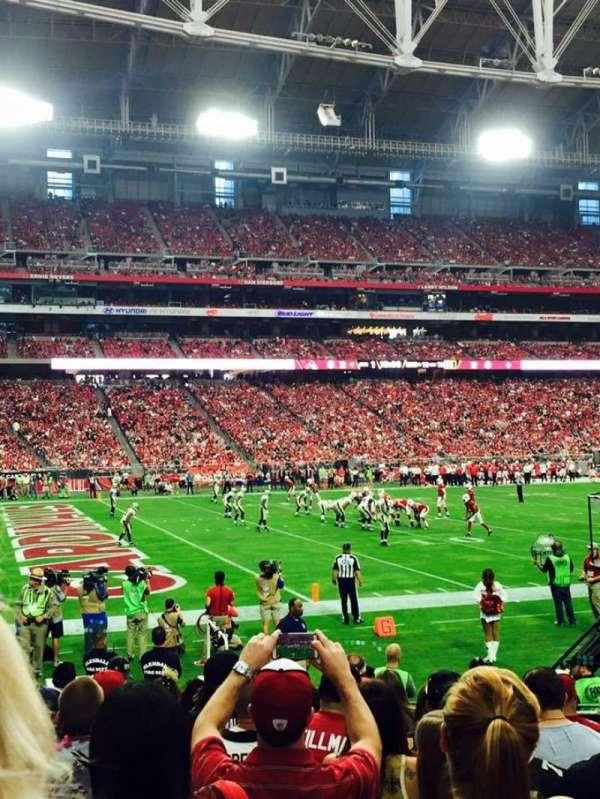 State Farm Stadium, secção: 135, fila: 11, lugar: 7-8