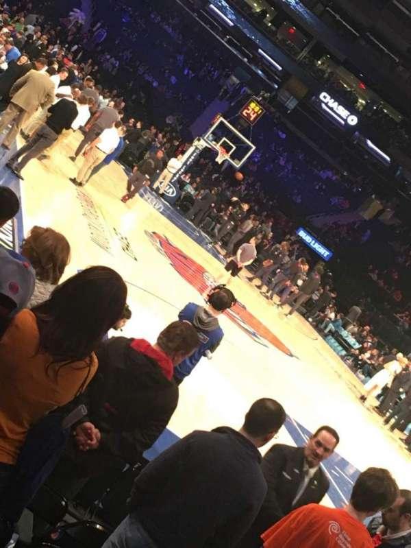 Madison Square Garden, secção: 7, fila: 7, lugar: 1