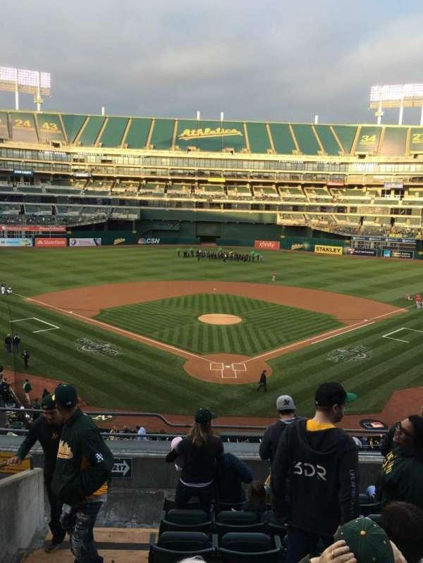 Oakland Coliseum, secção: 217, fila: 8, lugar: 13