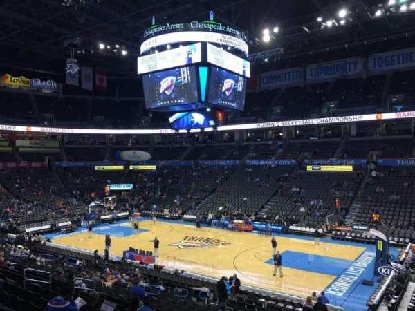 Chesapeake Energy Arena, secção: 104