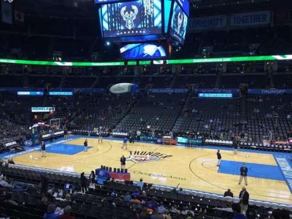 Chesapeake Energy Arena, secção: 105