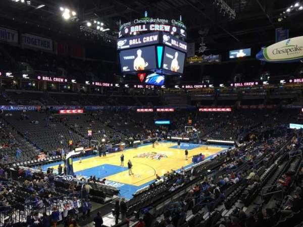 Chesapeake Energy Arena, secção: 109