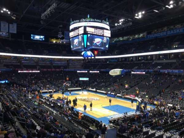 Chesapeake Energy Arena, secção: 113