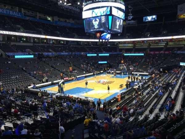 Chesapeake Energy Arena, secção: 119