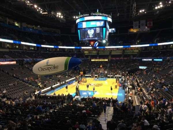 Chesapeake Energy Arena, secção: 120