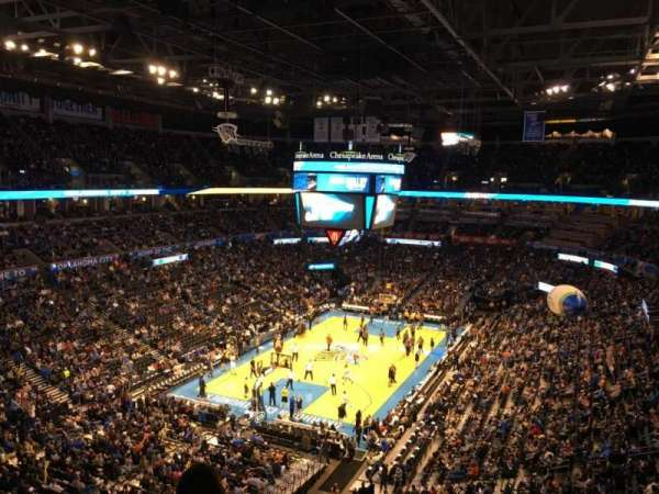 Chesapeake Energy Arena, secção: 314