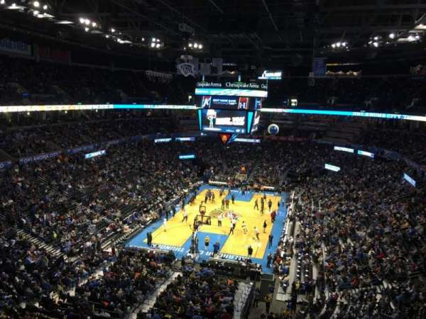 Chesapeake Energy Arena, secção: 315