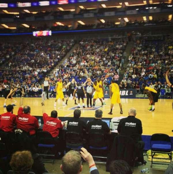 The O2 Arena, secção: Floor A2, fila: B