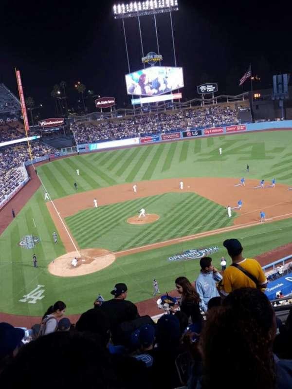 Dodger Stadium, secção: 6RS, fila: J, lugar: 19