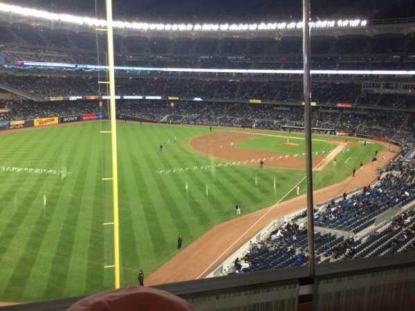 Yankee Stadium, secção: Audi Yankees Club, fila: 1, lugar: 9