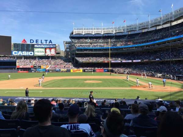 Yankee Stadium, secção: 123, fila: 7, lugar: 8