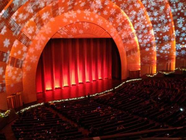 Radio City Music Hall, secção: 3rd Mezzanine 7, fila: A, lugar: 701