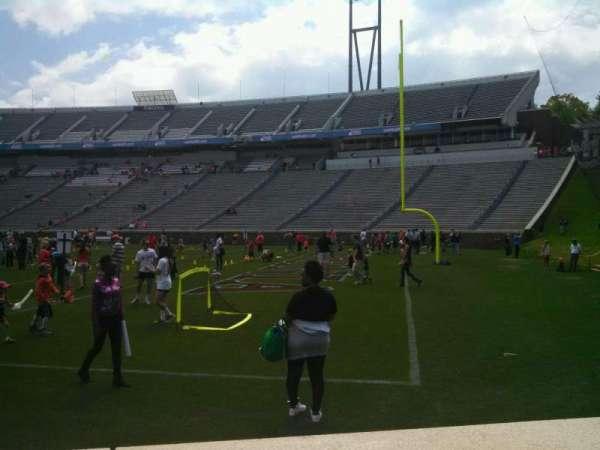 Scott Stadium, secção: 102, fila: A, lugar: 14