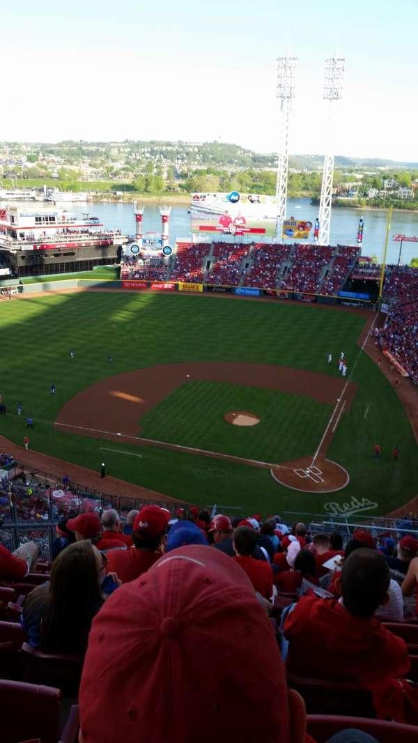 Great American Ball Park, secção: 520, fila: U, lugar: 7