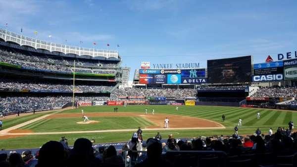 Yankee Stadium, secção: 117A, fila: 14, lugar: 1