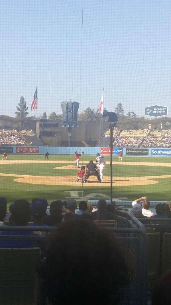 Dodger Stadium, secção: 1FD, fila: C, lugar: 1