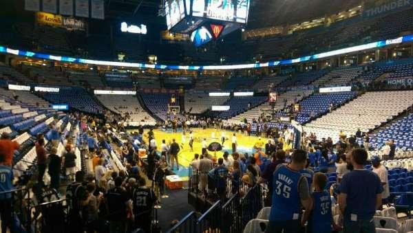 Chesapeake Energy Arena, secção: 112, fila: UU, lugar: 9