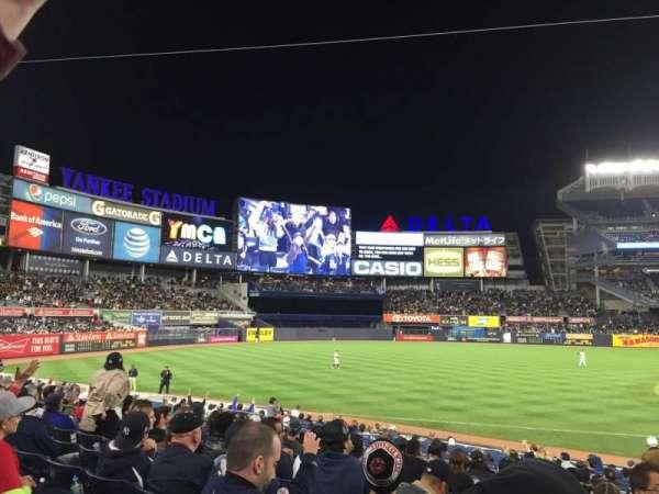 Yankee Stadium, secção: 127b, fila: 9, lugar: 4
