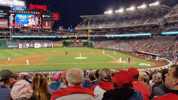 Nationals Park, secção: 117, fila: NN, lugar: 15