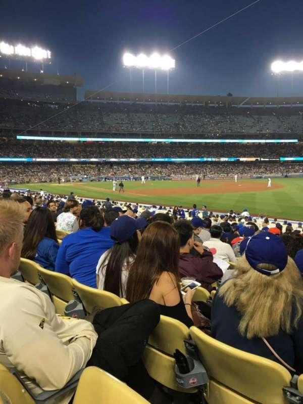 Dodger Stadium, secção: 42FD, fila: O, lugar: 8