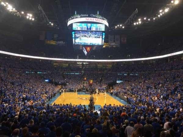 Chesapeake Energy Arena, secção: 101, fila: N, lugar: 3